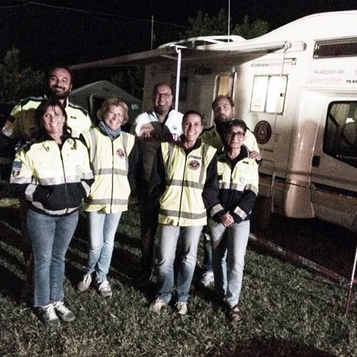 I farmacisti volontari nelle zone del terremoto