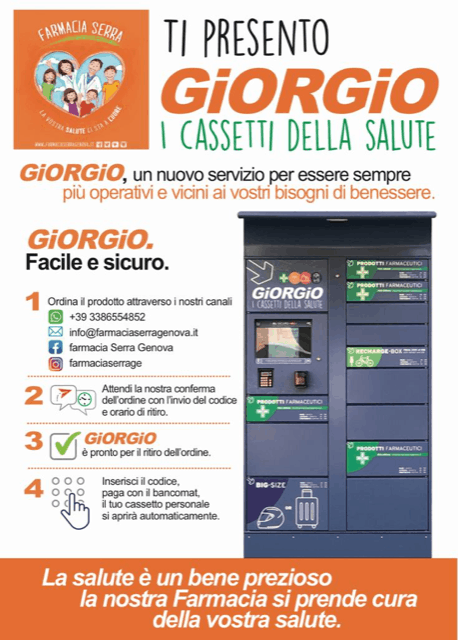 La Farmacia Serra Inventa Giorgio I Cassetti Della Salute Per Le Consegne Senza Contatti Pharmaretail