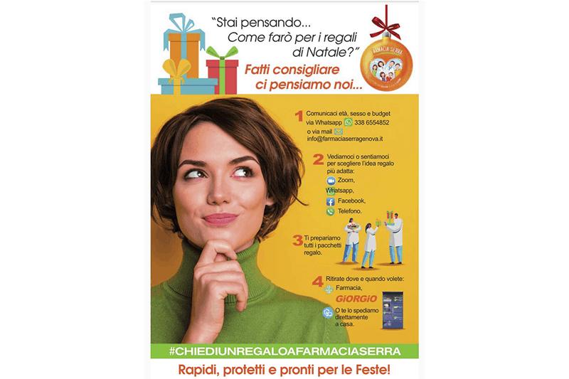 """Dopo """"Giorgio, i cassetti della salute"""" la Farmacia Serra lancia un'idea per i regali di Natale"""